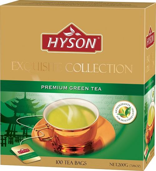 Hyson English Premium Green Tea 100 ც. ერთჯერადი მწვანე ჩაი