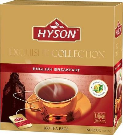 Hyson English Breakfast 100 ც. ერთჯერადი შავი ჩაი