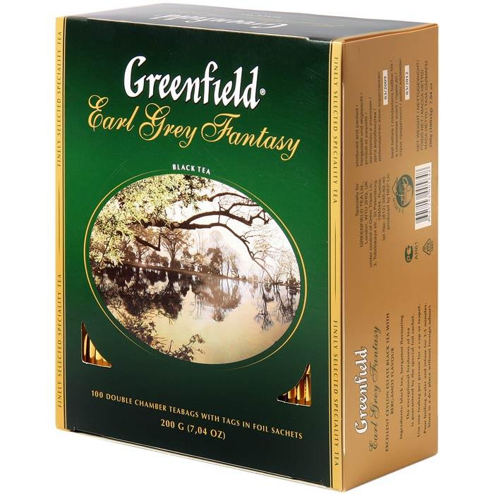 შავი ჩაი Greenfield Earl Grey Fantasy კონვერტით 100 ც.