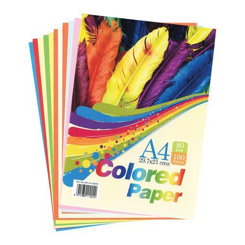 ფერადი ქაღალდი Maxleaf A4 100 ფურცელი. 80 გრ. 10 ფერი