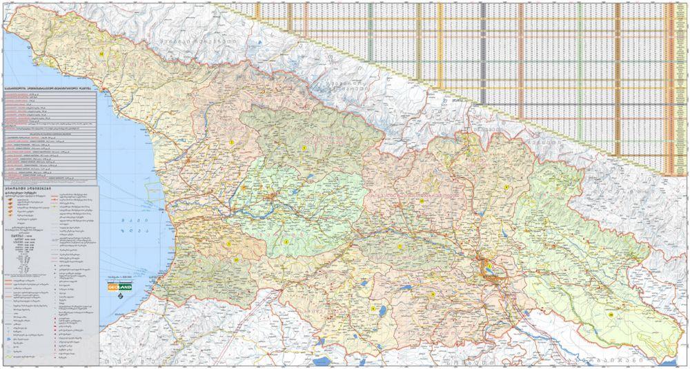 საქართველოს ადმინისტრაციული  რუკა რეგიონების მიხედვით
