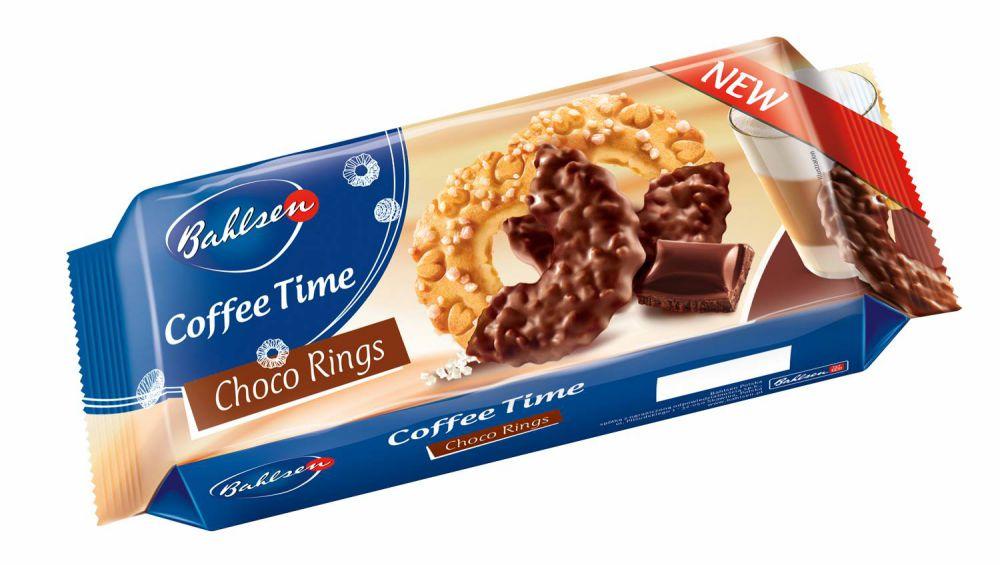 ორცხობილა Bahlsen - კოფი თაიმი შოკოლადის რგოლები 155 გრ.