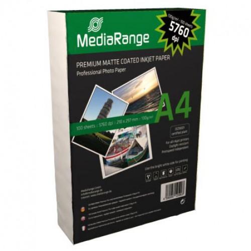 ფოტო ქაღალდი A4 Media Range 130 გრ. 100ც.
