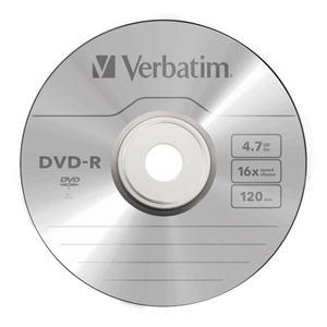 DVD-R Verbatim 16x4.7GB Matt Silver