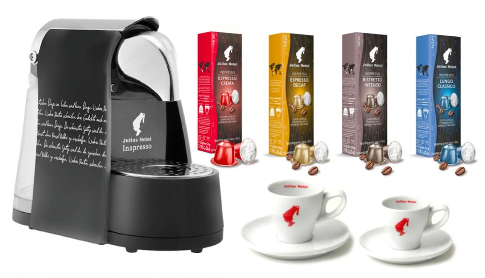ყავის აპარატი კაფსულის ყავისთვის Julius Meinl + საჩუქრები!