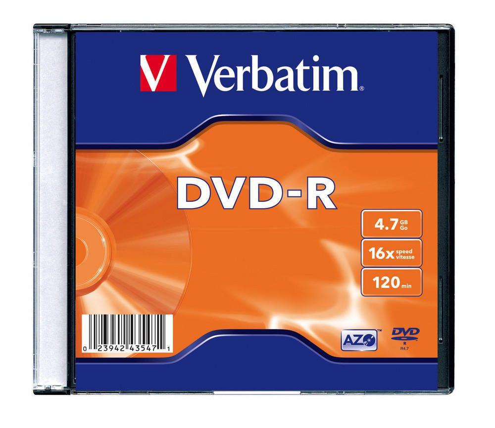 DVD-R Verbatim 16xSlim