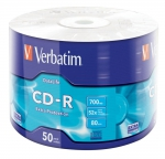 CD-R Verbatim 52x 700Mb 50PK Wrap Extra Protection 50 ცალიანი შეკვრა